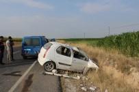 Aksaray'da Otomobil Şarampole Devrildi Açıklaması 1 Yaralı