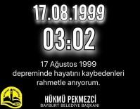 Başkan Pekmezci, Marmara Depremi'nde Hayatını Kaybedenleri Andı