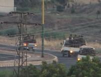 Sınırdan sıcak görüntü! İçinde 50 terörist olan 3 kamyonet...