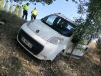 Hafif Ticari Araç Yoldan Çıktı  Açıklaması 1 Yaralı