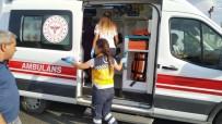 Otomobil Refüje Çarptı Açıklaması 3 Yaralı