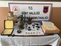 Siirt'te Tarihi Eser Niteliği Olan Malzeme Ve Ruhsatsız Silah Ele Geçirildi