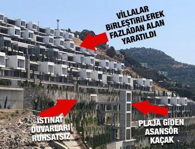 İşte Bodrum The Bo Viera'daki kaçak yapılar