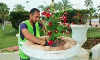 Mersin'de Mevsimlik Çiçek Dikimi Tamamlandı