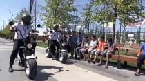 FUTBOL SAHASI - Millet Bahçesi'nin Scooterli Güvenlik Görevlileri