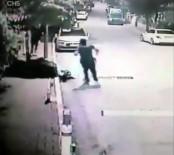 ERGUVAN - Nefes Kesen Hırsız Polis Kovalamacası Kamerada