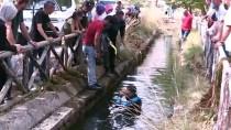 Su Kanalına Düşen Altın Bileklik Ve Telefonu AFAD Ekipleri Buldu