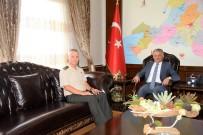 KARA HARP OKULU - Tuğgeneral Yaralı'dan Vali Yazıcı'ya Veda Ziyareti