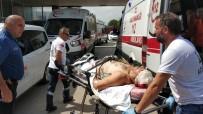AMBULANS HELİKOPTER - Kafasına Demirle Vurulan Şahıs Ağır Yaralandı
