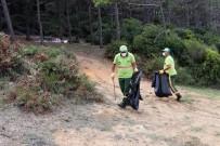 (Özel) Beykoz'da Zabıtadan Piknikçilere Megafonla 'Çöp Atmayın' Uyarısı