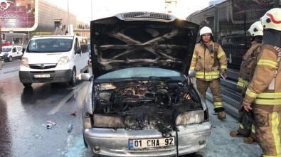 Araç Yangını E-5'Te Trafiği Durma Noktasına Getirdi