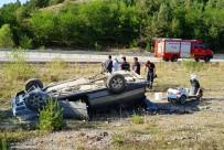 Kastamonu'da Virajı Alamayan Otomobil Takla Attı Açıklaması 2 Yaralı