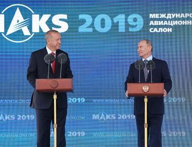 Moskova'dan ilk mesajlar! Cumhurbaşkanı Erdoğan ve Putin açılışa katıldı
