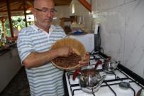 Yakacak Olarak Kullanılan Fındık Kabuğundan Çay Yaptı