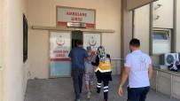 Market Raflarını Düzenlerken Düşüp Yaralandı