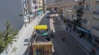 Mustafa Parmaksız Caddesinde Sıcak Asfalt Serimine Başlandı