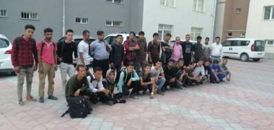 Niğde'de 28 Kaçak Göçmen Yakalandı