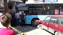 Halk Otobüsü Apartmana Çarptı