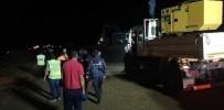 ÖZEL HAREKAT POLİSLERİ - HES Santralindeki Su Kanalı Patladı, Uzun Araç Konvoyu Oluştu