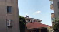(Özel) Pendik'te 5 Katlı Binanın Çatısında Tehlikeli Çalışma Kamerada