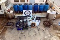 KAÇAK İÇKİ - Evini Bodrumuna Kaçak İçki Üretim Tesisi Kurmuş