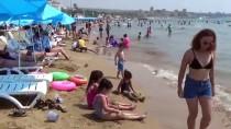 Mersin'de Sıcaktan Bunalanlar Sahillere Koştu