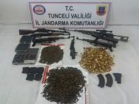 Tunceli'de Teröristlerin Silah Ve Cephaneleri Ele Geçirildi