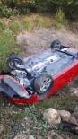 Korudağ'da Otomobil Şarampole Yuvarlandı Açıklaması 2 Yaralı