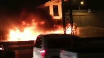 TEM Otoyolunda Otobüs Yangını