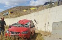 Bingöl'de Otomobil Şarampole Yuvarlandı Açıklaması 1 Yaralı