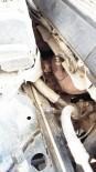 Burhaniye'de Otomobilin Motoruna Giren Kediyi İtfaiye Çıkardı