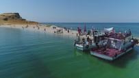 SEDEF HASTALIĞI - Çarpanak Adası'na Antik Yoldan Su Altı Yürüyüşü