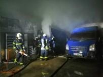 Manisa'daki Depo Yangınında 3 Araç Ve Binlerce Paket Sigara Kül Oldu