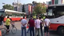 Mersin'de Özel Halk Otobüsü İle Servis Aracı Çarpıştı Açıklaması 12 Yaralı
