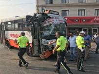 Otobüs Otobüse Çarptı Açıklaması 12 Yaralı