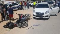 Karaman'da Otomobil İle Motosiklet Çarpıştı Açıklaması 1 Yaralı