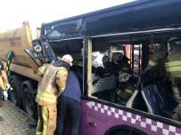 Sancaktepe'de Otobüs Kazası; 1 Yaralı