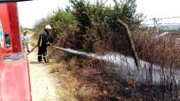 YAĞ FABRİKASI - Eski Fabrikaya Yaklaşan Yangın Korkuttu