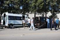 Manisa İşçi Servisi Hafif Ticari Araçla Çarpıştı Açıklaması 16 Yaralı