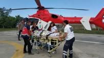 AMBULANS HELİKOPTER - Yaşlı Adamın Yardımına Ambulans Helikopter Yetişti