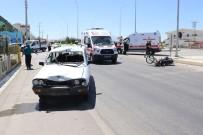 Karaman'da 2 Kişinin Yaralandığı Kaza Güvenlik Kamerasında