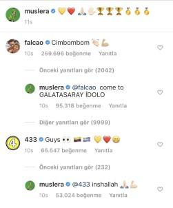 Radamel Falcao'dan Galatasaray Taraftarını Heyecanlandıran Paylaşım