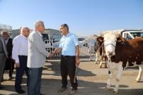 Başkan Güder Hayvan Pazarını Ziyaret Etti