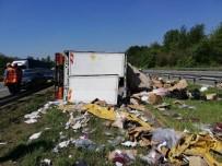 TEM Otoyolunda Trafik Kazası Açıklaması 2 Yaralı
