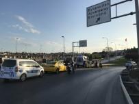 E5 KARAYOLU - Eyüpsultan'da Motosiklet Kazası Açıklaması 2 Yaralı