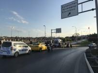 E5 KARAYOLU - (Özel) Eyüpsultan'da Motosiklet Kazası Açıklaması 2 Yaralı