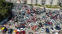 Yüzlerce Modifiyeli Aracın Buluşması Havadan Görüntülendi