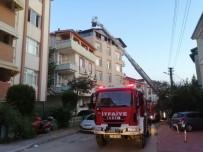 İzolasyon Çalışması Yapılan Binanın Çatısında Korkutan Yangın