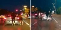 (Özel) Maltepe'de Patenli Gençlerin Tehlikeli Yolculuğu Kamerada