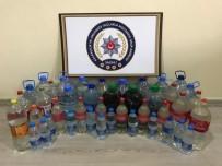 Pet Şişelerden 105 Litre Kaçak İçki Çıktı